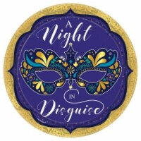Amscan 636424 A Night in Disguise Lunch Plate - Pack of 8