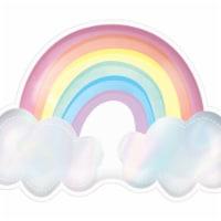 Amscan 619676 Magical Rainbow Birthday Rainbow Shaped Iridescent Plate - 1