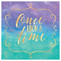 Amscan 622558 Once Upon A Time Beverage Napkins - Pack of 16