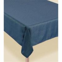 Amscan 620534 Metallic Teal Luxury Fabric Table Cover