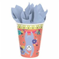 Amscan 639500 Sloth Celebration Paper Cups - Pack of 8 - 1