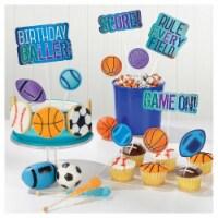 Amscan 644352 3.75 in. Birthday Baller Dessert Topper Kit - Pack of 8