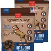 Cloud Star 192959800258 5 oz Dynamo Dog Hip & Joint Bacon & Cheese Functional Treats - Pack o