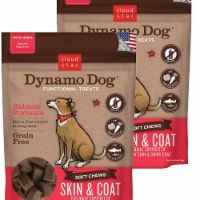 Cloud Star 192959800272 5 oz Dynamo Dog Skin & Coat Salmon Functional Treats - Pack of 2 - 2