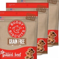 Cloud Star 192959800524 5 oz Buddy Biscuits Soft & Chewy Dog Treats - Grilled Beef - Pack of