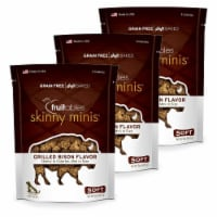 Fruitables 192959801088 5 oz Skinny Minis Grilled Bison Chewy Dog Treats - Pack of 3
