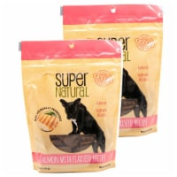 Super Natural 192959810066 5 oz Salmon with Flaxseed Recipe Dog Treats - Pack of 2 - 1
