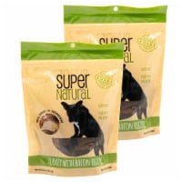 Super Natural 192959810097 5 oz Turkey with Bacon Recipe Dog Treats - Pack of 2 - 1