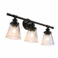 3-Light Black Vanity Light - 1