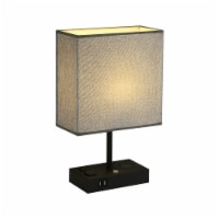 17 in. Wireless Charging Table Lamp with 2 USB Ports and 2 Charging outlets