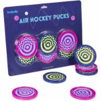 Brybelly GAIR-112 3.25 in. Vivid Air Hockey Pucks - Pack of 6