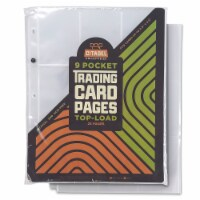 9-pocket Trading Card Pages, Top-Load, 25 Pages
