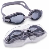 Brybelly SSWI-108 Clear Swimming Goggles with Case, Gray - 1