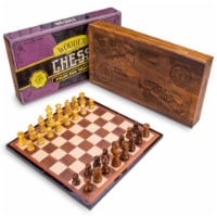 Vintage Wooden Chess Box Set