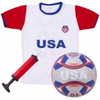 Brybelly SSCR-704 USA Kids Soccer Kit, Medium - 1