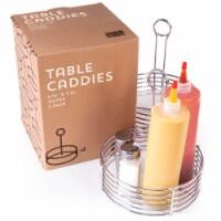 Silver Metal Table Caddies, 2-pack