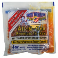 Great Northern Popcorn 4 Ounce Premium Popcorn Portion Packs, Case of 12 - 1 unit