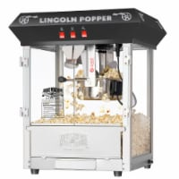 Great Northern Black 8oz Antique Countertop Popcorn Popper Machine, 8 Ounce
