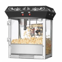 Great Northern Black Foundation Top Popcorn Popper Machine, 4 Ounce