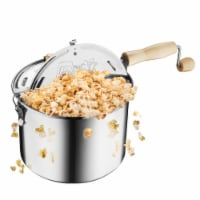 Original Stainless Stove Top 6 1/2 Quart Popcorn Popper by Great Northern