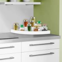 3-Tier Corner Organizer  Plastic Space Saver Countertop, Pantry and Cabinet Storage Shelf - 1 unit