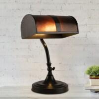 Bankers Lamp Amber Mica Shade Antique Vintage Mission Style Office Desk Light - 1 unit