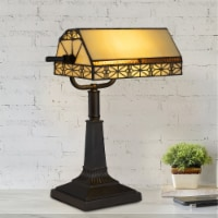 Tiffany Style Table or Desk Light Stained Glass Shade  Vintage Look Mission Style Accent - 1 unit