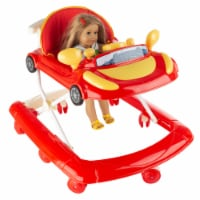 Doll Walker Baby Doll and Stuffed Animal Mobile Push Toy with Fun Car Design-Adjustable - 1 unit