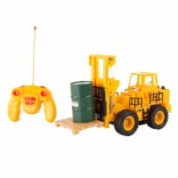 Remote Control Toy Forklift Working Fork Lights Sound AA Battery Operated with Accessories - 1 unit