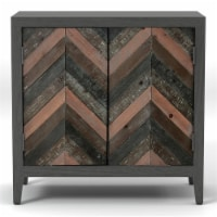 Furniture of America Vullman Contemporary Wood Accent Cabinet in Gray - 1