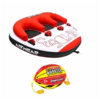 Airhead Triple Rider Inflatable Backrest Tube with 4K Booster Ball Towing System - 1 Unit
