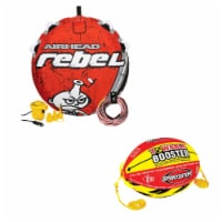 Airhead Rebel 1 Person Red Tube Kit & Airhead 4K Booster Ball Towing System - 1 Unit