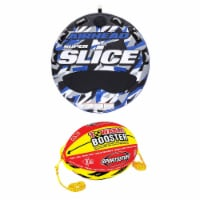 Airhead Super Slice Inflatable Towable Water Tube w/ Booster Ball Towing System