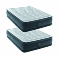 Intex Dura Beam Plus Series Elevated Mattress Airbed with Pump, Queen (2 Pack)
