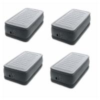 Intex Dura Beam Plus Series Elevated Airbed w/ Built in Pump, Twin (4 Pack) - 1 Unit