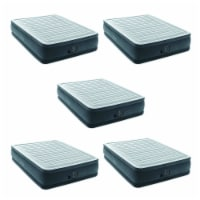 Intex Dura Beam Plus Series Elevated Mattress Airbed with Pump, Queen (5 Pack) - 1 Unit