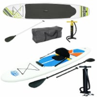 Bestway Inflatable Hydro Force Wave Edge Stand Up Paddle Board (Green, White) - 1 Unit