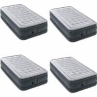 Intex Comfort Plush Dura Beam Plus Series Mid Rise Airbed w/ Pump, Twin (4 Pack)