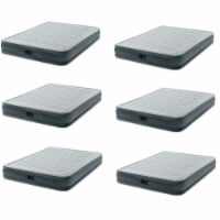 Intex Dura-Beam Series Mid Rise Airbed w/Built In Electric Pump, Queen (6 Pack) - 1 Unit