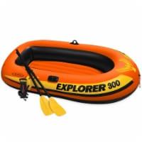 Intex 3 Person Raft w/ Pump & Oars & 2 Person Raft Set w/ 2 Oars & Pump (2 Pack) - 1 Unit