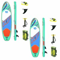 Hydro Force Huaka'i Tech 10 Foot Inflatable SUP Paddle Board with Pump (2 Pack) - 1 Unit