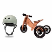 Kinderfeets Sage Adjustable Kids Helmet Bundle with Brown Balance Trike Tricycle - 1 Unit