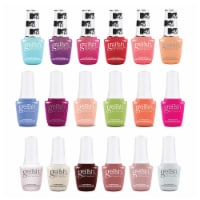 Gelish 9mL Feel the Vibes, MTV, & Out in the Open Gel Nail Polish, 18 Color Pack - 1 Unit