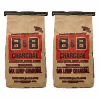 B&B Charcoal Signature Low Smoke Oak Lump Grilling Charcoal, 10 Pounds (2 Pack) - 1 Piece
