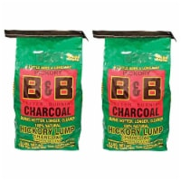 B&B Charcoal Signature Hickory Lump Grilling Smoking Charcoal, 8 Pounds (2 Pack) - 1 Piece
