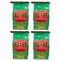 B&B Charcoal Signature Hickory Lump Grilling Smoking Charcoal, 8 Pounds (4 Pack) - 1 Piece