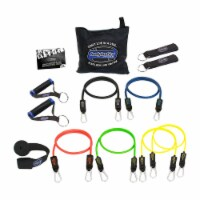 Bodylastics 13 Piece Exercise Equipment Set w/ Weight Resistance Bands & Anchors - 1 Unit