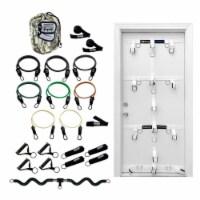 Bodylastics Exercise Equipment Warrior XT Set w/ Bands Bar & Door Anchor System - 1 Unit