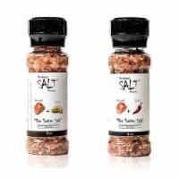 The Original Salt Company Pink Himalayan Salt Garlic and Chili Pepper Grinder - 1 Piece