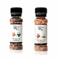 The Original Salt Company Pink Himalayan Salt Black Pepper and Garlic Grinders - 1 Piece